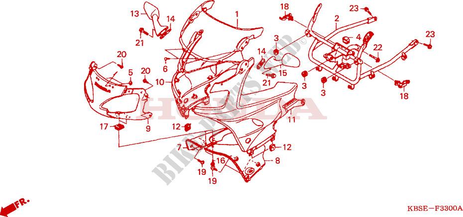 oberer windlauf chassis nsr125r1 2001 nsr 125 moto honda. Black Bedroom Furniture Sets. Home Design Ideas