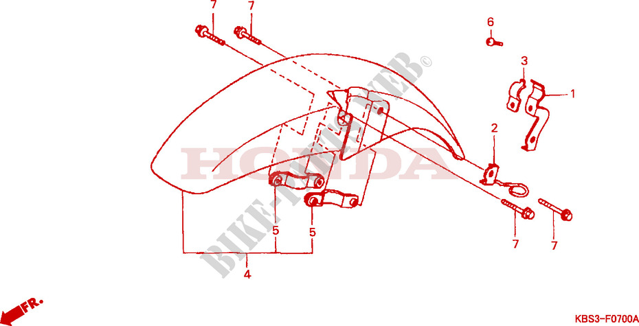 kotfluegel vorne chassis nsr125rv 1997 nsr 125 moto honda. Black Bedroom Furniture Sets. Home Design Ideas