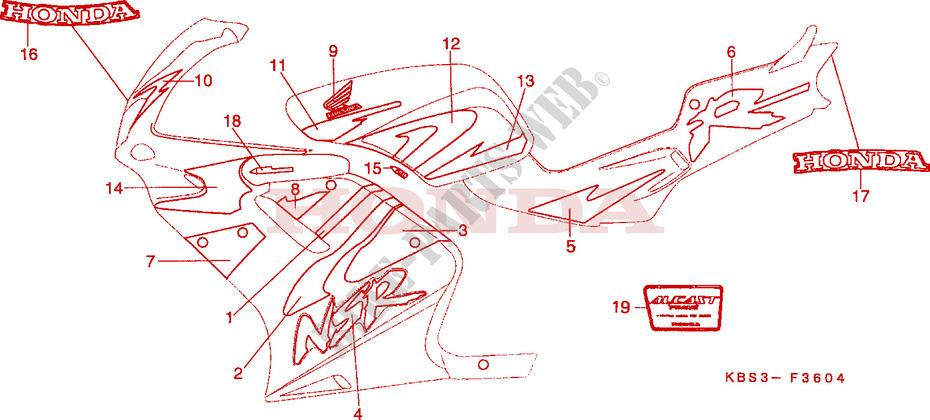 marke 5 links chassis nsr125rv 1997 nsr 125 moto honda. Black Bedroom Furniture Sets. Home Design Ideas