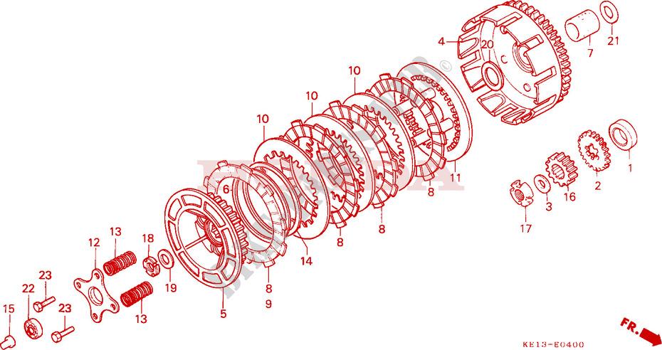 Kupplungshebel Honda MTX 200