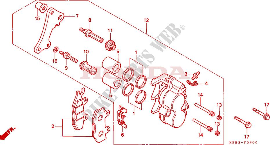 vorderrad bremssattel rebel 125 ca125t 1996 deutschland. Black Bedroom Furniture Sets. Home Design Ideas