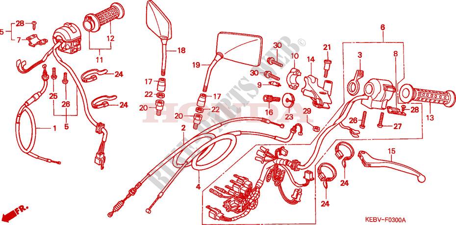 hebelgriff schalter kabel rebel 125 ca125x 1999. Black Bedroom Furniture Sets. Home Design Ideas