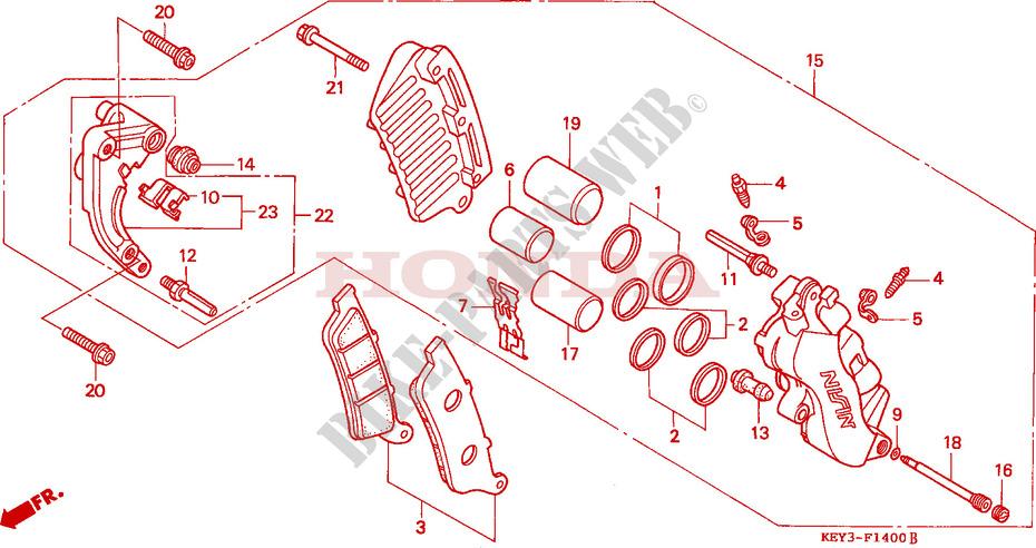 vorderrad bremssattel chassis fes125y 2000 pantheon 125. Black Bedroom Furniture Sets. Home Design Ideas