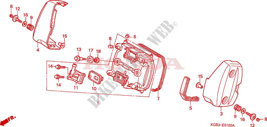 zylinderkopfdeckel vorne motor vt125cy 2000 vt 125 moto. Black Bedroom Furniture Sets. Home Design Ideas