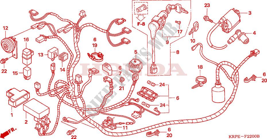 Kabelbaum F U00fcr Honda Scv 100 Lead 2005   Honda Motorr U00c4der