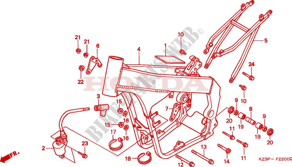 RAHMENKOERPER 1 Chassis CR250RV 1997 CR 250 MOTO Honda motorrad ...