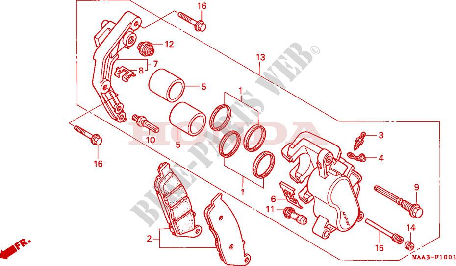 VORDERRAD BREMSSATTEL VT1100C2 Chassis VT1100C2S 1995 VT 1100 MOTO ...
