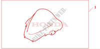 HIGHWIND SCREEN Honda Motorrad Mikrofiche-Diagramm VTR1000SPY 2000 VTR 1000 SP1