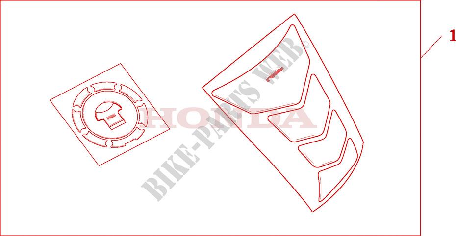 tankpad fuel lid cover zubehor cb900f2 2002 hornet 900. Black Bedroom Furniture Sets. Home Design Ideas