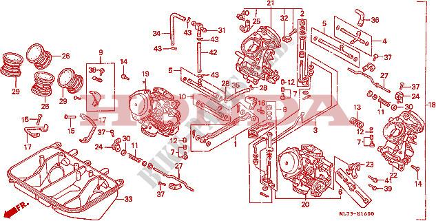 VERGASER 1 Motor VFR750FG 1986 VFR 750 MOTO Honda motorrad ...