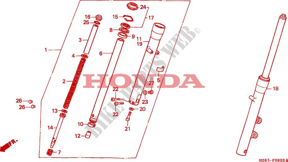 gabel vorne chassis nv600cr 1994 steed 600 moto honda motorrad honda motorr der online. Black Bedroom Furniture Sets. Home Design Ideas