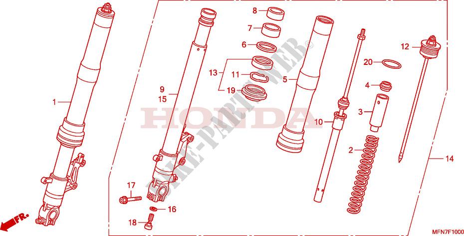 gabel vorne cb 1000 r abs cb1000ra9 2009 europe. Black Bedroom Furniture Sets. Home Design Ideas