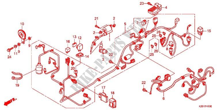 kabelbaum/batterie für honda zoomer 110 x 2014 # honda motorrÄder - online  original ersatzteilkatalog  bike-parts-honda.de