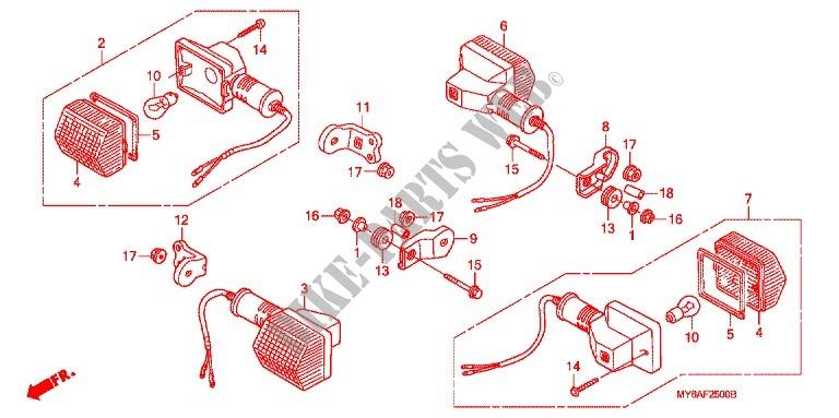 BLINKER(2) für Honda XR 650 L 2008 # HONDA MOTORRÄDER ... on
